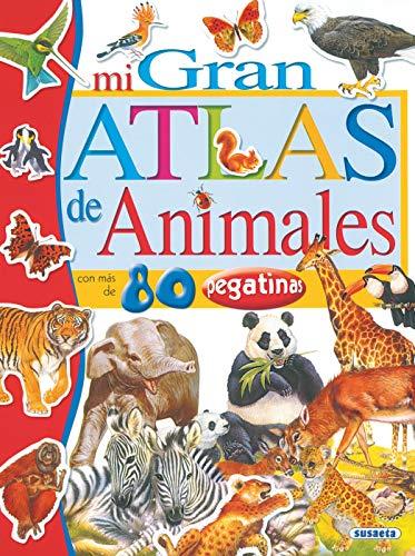 9788430555376: Mi gran atlas de animales con pegatinas