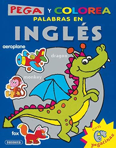 9788430565634: Super Pega y Colorea palabras en Ingles/ Stick and Color English Words (Spanish Edition)
