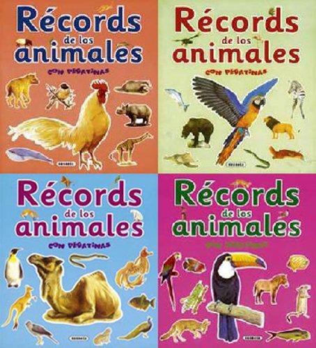 9788430571468: Records de los animales con pegatinas (4 títulos)
