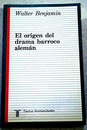 9788430601356: El origen del drama barroco Alemán