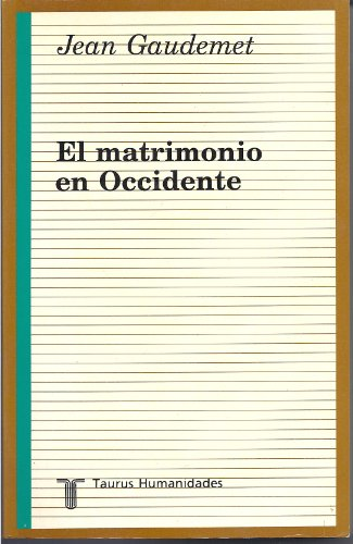 9788430602384: El matrimonio en occidente