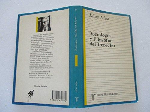 9788430610792: Sociologia y filosofia del derecho (Ensayistas ; 79) (Spanish Edition)