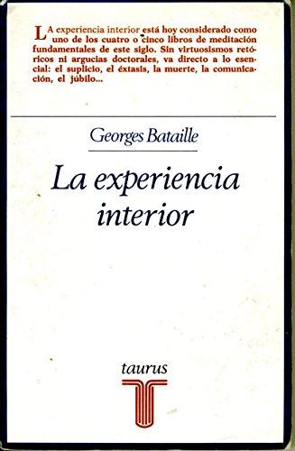 9788430610921: La experiencia interior