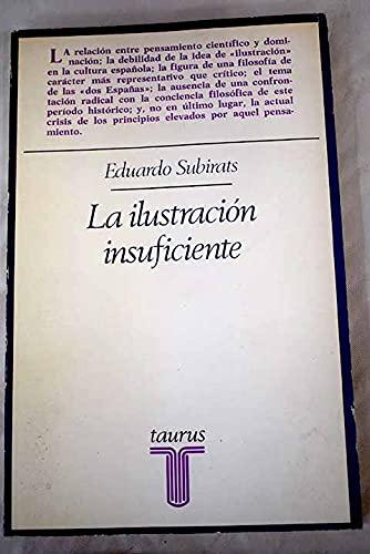 ILUSTRACION INSUFICIENTE LA ENS182: Subirats Ruggererg, Eduardo