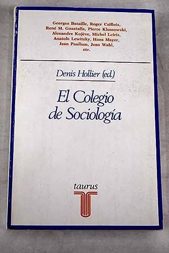 9788430612093: El colegio de sociologia