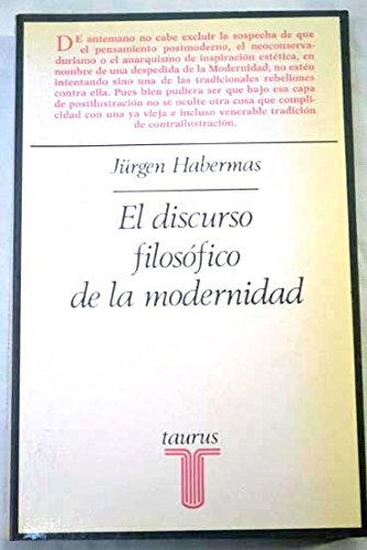 9788430612901: Discurso filosofico de la modernidad, el