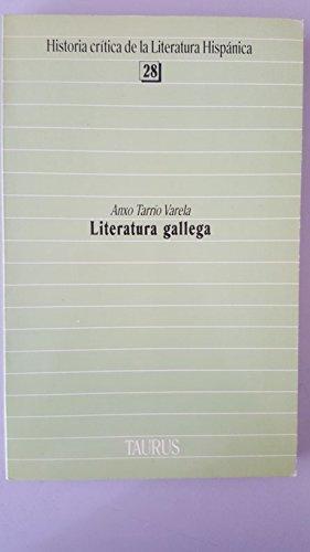 9788430625284: Literatura gallega (Historia critica de la literatura hispanica) (Spanish Edition)