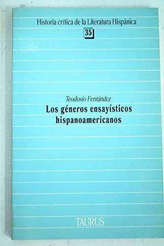 9788430625352: Los generos ensayisticos hispanoamericanos (Historia critica de la literatura hispanica) (Spanish Edition)