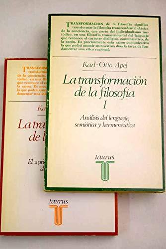 9788430699568: La transformacion de la filosofia(2 vols)