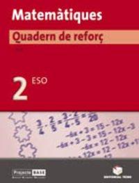 9788430749348: (CAT).(06).QUAD.REFOR MATEMAT.2N ESO (+SOLUCIONARI)