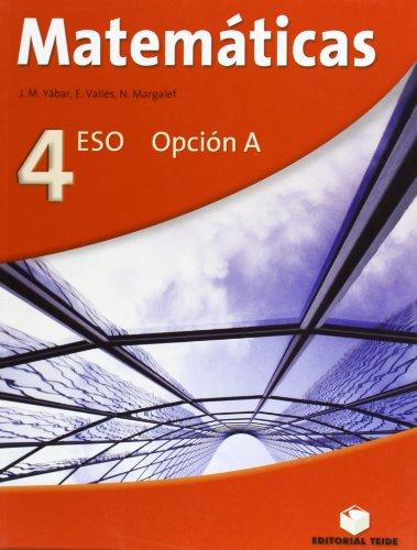 9788430786794: Matemáticas, 4 ESO, opción A