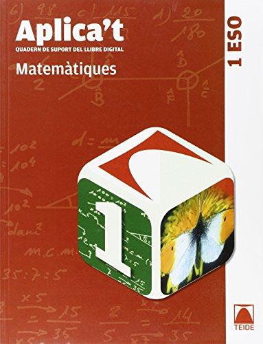 9788430788514: Aplica't. Quadern de suport al llibre digital. Matemàtiques 1er ESO - 9788430788514