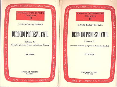 Manuales Universitarios Españoles II. Derecho Procesal Civil.Vol: L. Prieto-Castro y
