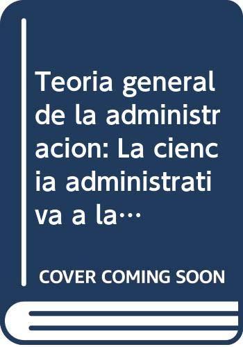 Teoría general de la Administración,: Jiménez Nieto, Juan
