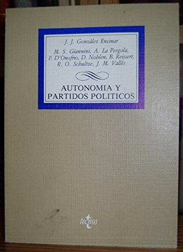 9788430910519: Autonomia y partidos politicos