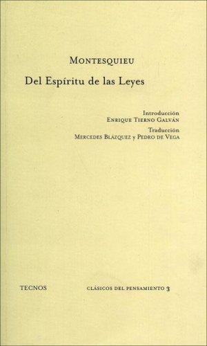 9788430911363: Del espiritu de las leyes (Clasicos)