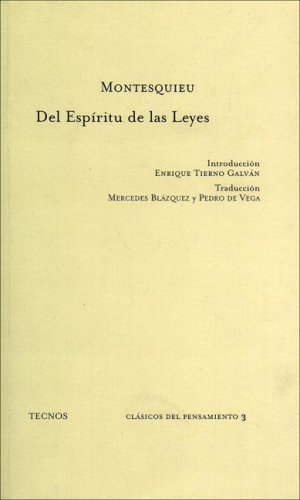 9788430911363: Del Espiritu De Las Leyes / the Spirit of Laws (Clasicos) (Portuguese Edition)