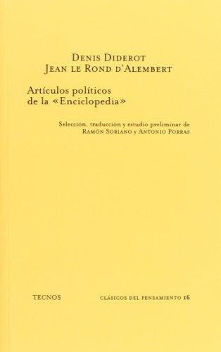 9788430912544: Artículos políticos de la Enciclopedia (Clásicos - Clásicos Del Pensamiento)