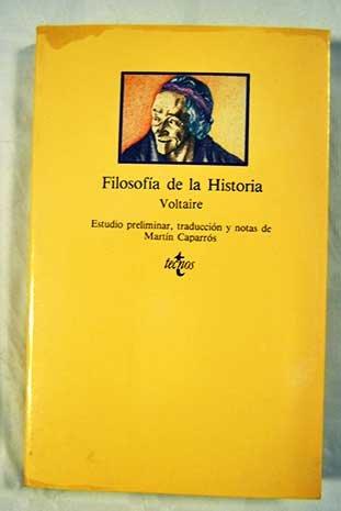 Filosofia de la Historia (CLASICOS DEL PENSAMIENTO) (Clasicos): Voltaire