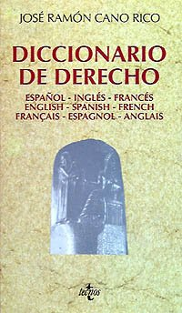 9788430924165: Diccionario de derecho / Law Dictionary: Espanol-ingles-frances (Spanish Edition)