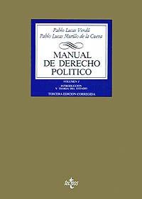MANUAL DE DERECHO POLÍTICON (VOL. I): INTRODUCCIÓN: Pablo Lucas Verdú,