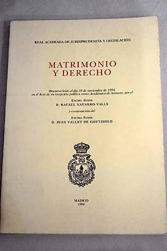 9788430925728: Matrimonio y derecho (Coleccion Estado y sociedad) (Spanish Edition)