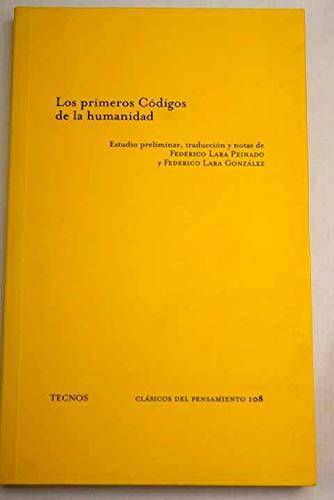 9788430925919: Primeros Codigos De La Humanidad / First Codes of Humanity