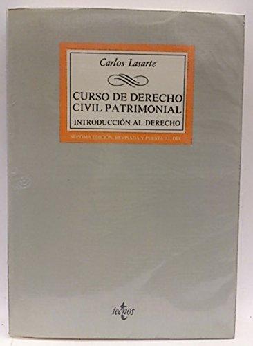 CURSO DE DERECHO CIVIL PATRIMONIAL INTRODUCCION AL: LASARTE, CARLOS