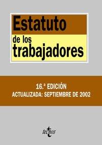 9788430938582: (16ªedic) Estatuto De Los Trabajadores
