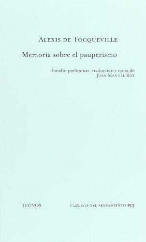 9788430939732: Memoria sobre el pauperismo (Clásicos - Clásicos Del Pensamiento)