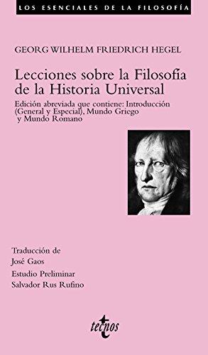 9788430942503: Lecciones sobre la filosofia de la historia universal / Lectures on the Philosophy of Universal History (Los Esenciales De La Filosofia) (Spanish Edition)