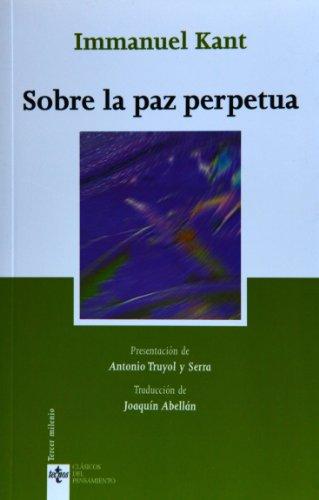 9788430943364: Sobre la paz perpetua (Clasicos Del Pensamiento / Thought Classics) (Spanish Edition)
