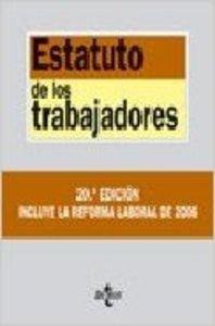 9788430944118: (20ª ed.) estatuto de los trabajadores (Biblio. Textos Legales 2006)