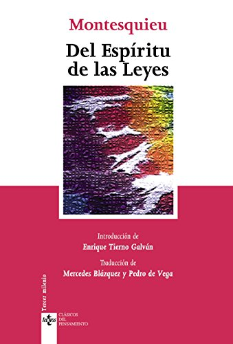 9788430945320: Del espiritu de las leyes (Clasicos Del Pensamiento / Thought Classics) (Spanish Edition)