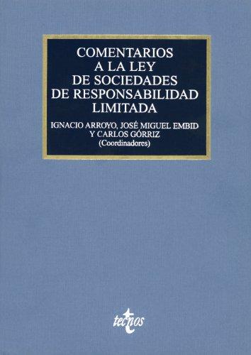COMENTARIOS A LA LEY DE SOCIEDADES DE: Arroyo Martínez, Ignacio;