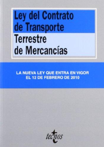 Ley del contrato de transporte terrestre de
