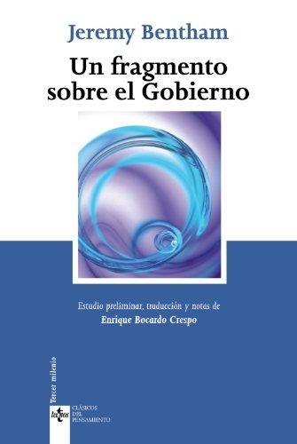 9788430950478: Un fragmento sobre el gobierno / A Fragment on Government 1776 (Spanish Edition)