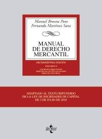 9788430951529: Manual de derecho mercantil / Manual of commercial law: Contratos Mercantiles. Derecho De Los Títulos-valores. Derecho Concursal / Commercial ... Law. Bankruptcy Law (Spanish Edition)