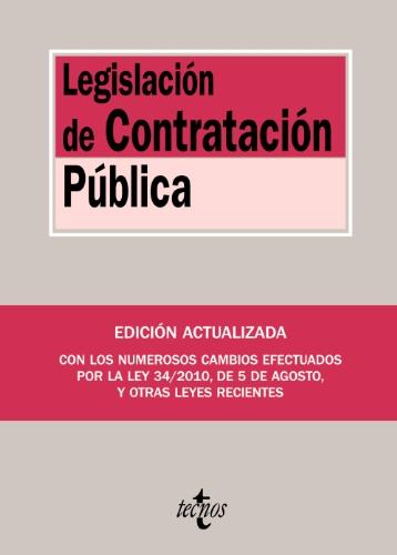 9788430952007: Legislacion de contratacion publica / Public Procurement Law (Biblioteca De Textos Legales / Legal Texts Library) (Spanish Edition)