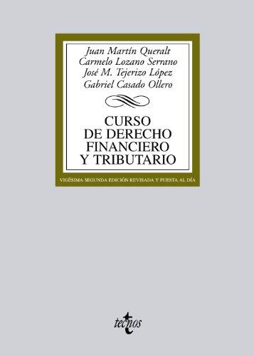 9788430953486: Curso de Derecho Financiero y Tributario (Derecho - Biblioteca Universitaria De Editorial Tecnos)