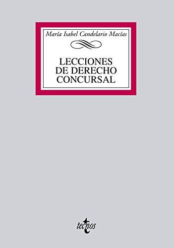 9788430954896: Lecciones de Derecho Concursal (Derecho - Biblioteca Universitaria De Editorial Tecnos)