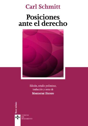 9788430954926: Posiciones ante el derecho / Positions before the law (Clasicos Del Pensamiento) (Spanish Edition)