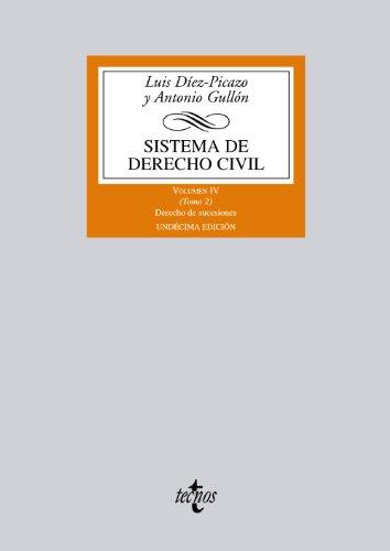 9788430955060: 4: Sistema de derecho civil / Civil Justice System: Derecho de sucesiones / Law of Succession (Spanish Edition)