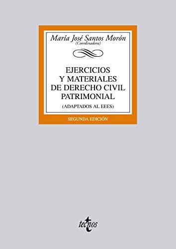 9788430955237: Ejercicios y materiales de Derecho Civil Patrimonial / Exercises and civil law heritage materials: (Adaptados Al Eees) (Spanish Edition)