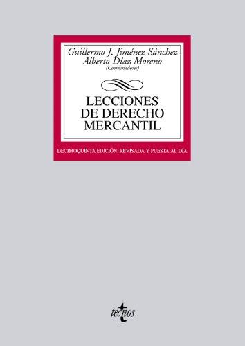 9788430955343: Lecciones de Derecho Mercantil (Derecho - Biblioteca Universitaria De Editorial Tecnos)