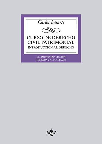 Curso de derecho civil patrimonial / Course: Lasarte, Carlos