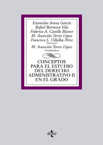 9788430958900: Conceptos para el estudio del Derecho administrativo II en el grado (Derecho - Biblioteca Universitaria De Editorial Tecnos)