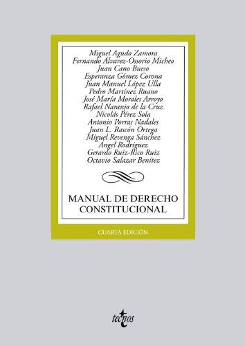 9788430959327: Manual de derecho constitucional / Manual of constitutional law (Spanish Edition)