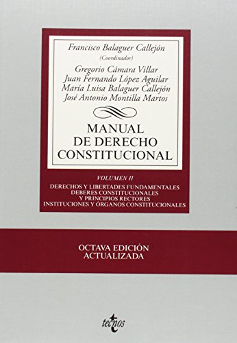 Manual de derecho constitucional / Costitucional Law: Callejon, Francisco Balaguer