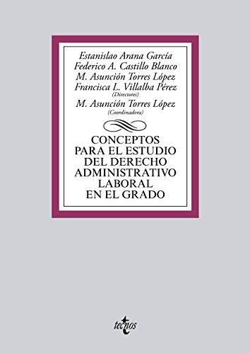 9788430961658: Conceptos para el estudio del derecho administrativo laboral en el grado
